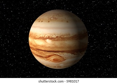 3d render of jupiter