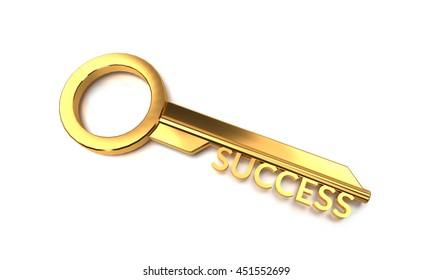 3D render Key to success