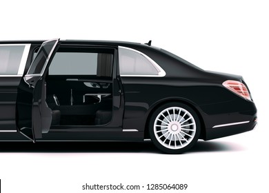 3d render of luxury limousine car