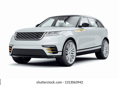 3d render of luxury SUV car