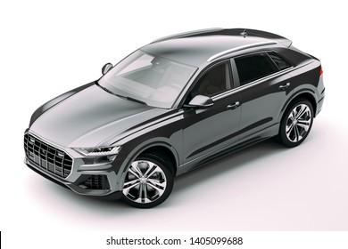 3d render of luxury SUV car