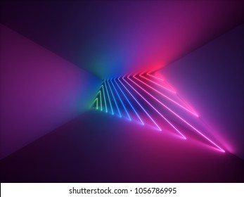 3d render, modern abstract geometric background, minimalistic room interior, shining neon light, empty showcase, primitive architecture, shop display, glowing edges, vivid colors