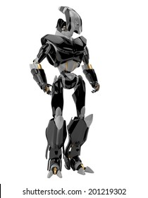 3d render of modern robotic soldier / Stylish futuristic warrior