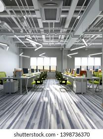 3d render of modern working space