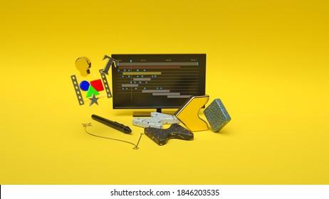 3d render of the motion designer workspace