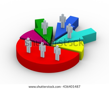 Royalty Free Stock Illustration Of 3 D Render People On Pie Chart