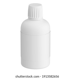 3d render of the plastic medical container - a bottle on a white background