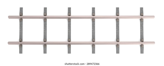 3d render of railway track