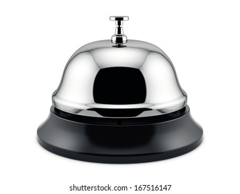 3d render of reception bell isolated on white background. Service concept