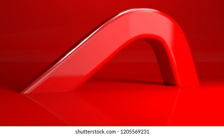 3d render, red abstract background with space for text