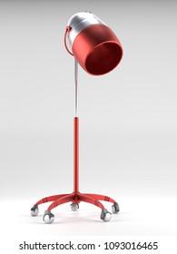 3D render of salon hair drying machine