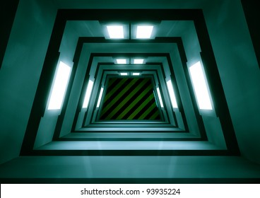 3d render of a sci-fi tunnel