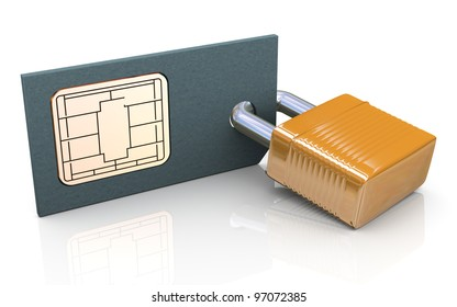 3d render of simcard protection concept