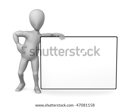 3 D Render Simple Character Blank Template Stock Illustration