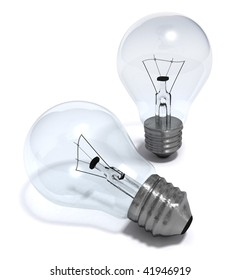 3D render of some light bulbs isolated on white