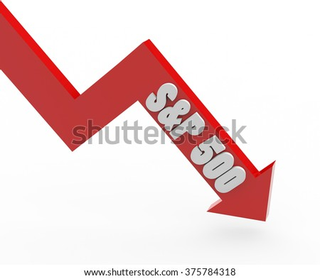 3 D Render Sp 500 Stock Market Stock Illustration Royalty Free