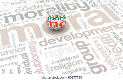 3d render of sphere with wordcloud texture on the background of wordtags