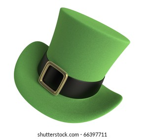 3D render of a St. Patrick's Day Celebration Hat