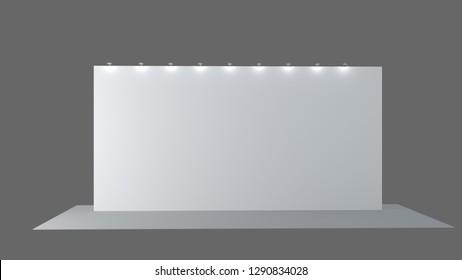 3d render stand. Empty