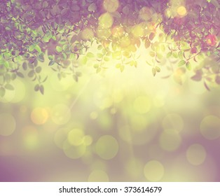 3D render of the sun shining through leaves with a retro effect