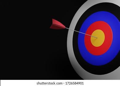 3D Render of Target board with arrows.