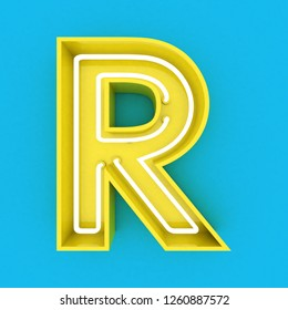 3d render text remon skyblue