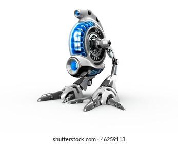 3d render toy robot