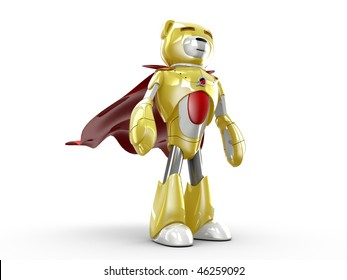3D Render of Toy Robot-Bear