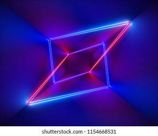 3d render, ultraviolet, infrared, neon lines, laser show, night club interior lights, colorful glowing shapes, abstract fluorescent background, virtual reality, psychedelic spectrum