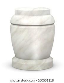 3d render of urn for ashes