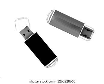3d render of USB memory