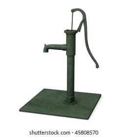 3d render of water pump
