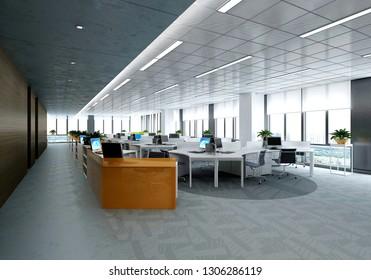 3d render working space