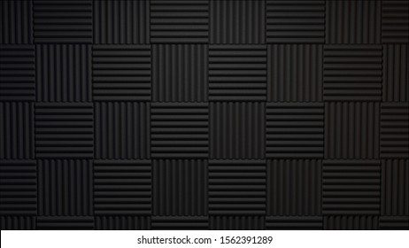3d rendered acoustic panels studio background