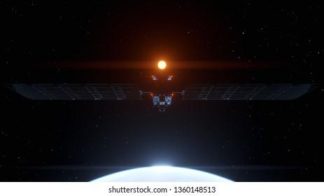3d rendered airspace satellite