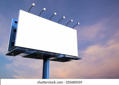 3d rendered blank billboard