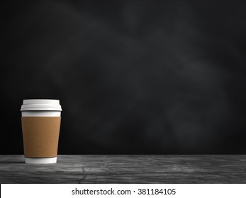 3d rendered blank paper coffee cup