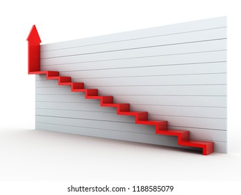 3d rendered Business growth concept on white background