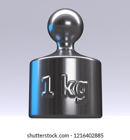3f3431f7a2c 3d rendered calibration weights on a white background 1 kilogramme