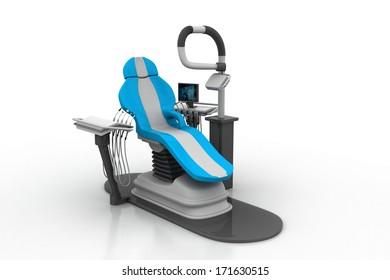 3d rendered dental chair