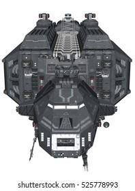 3D rendered fantasy Spaceship