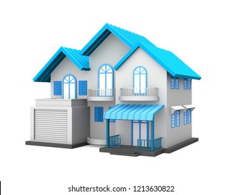 3d rendered  house