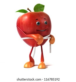 3d rendered illustration of an apple character