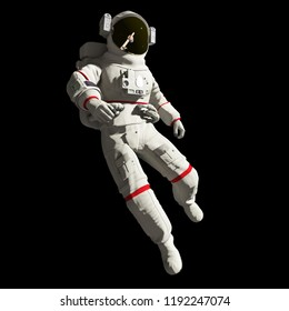 3d rendered illustration of an astronaut in space