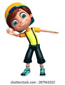 3d rendered illustration of boy