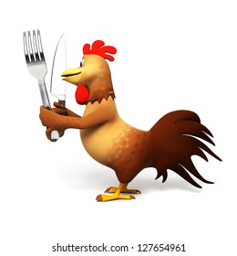 3d rendered illustration of a chicken