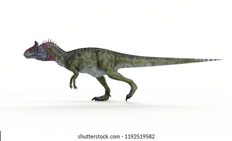 3d rendered illustration of a Cryolophosaurus