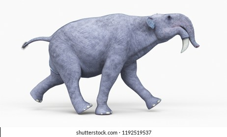 3d rendered illustration of a deinotherium