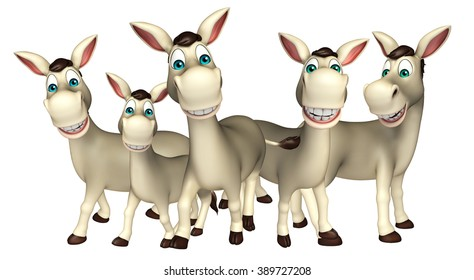 3d rendered illustration of Donkey Collection