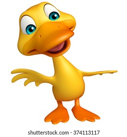 3d rendered illustration of Duck funny cartoon character